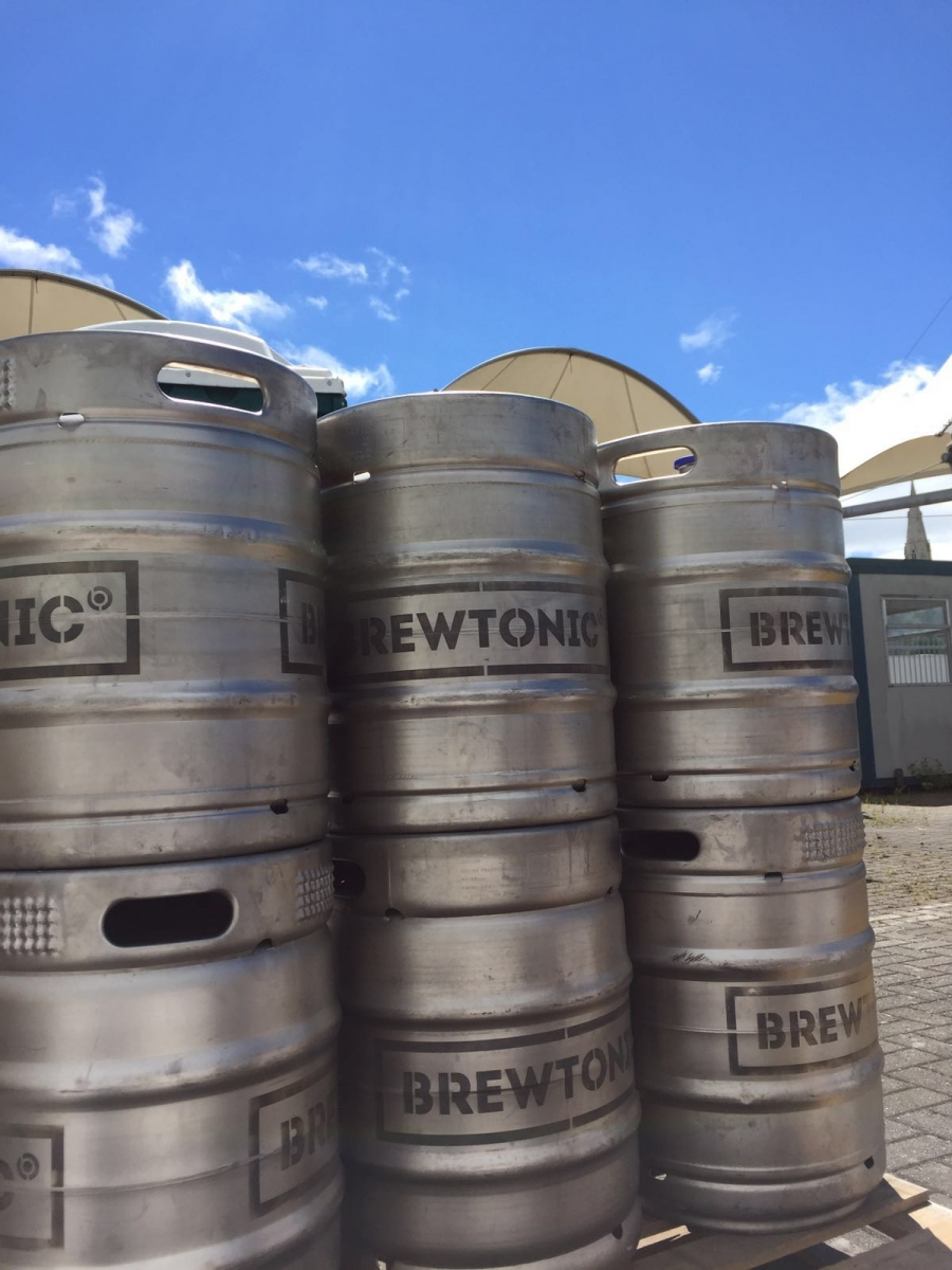 Our kegs working on their base tan