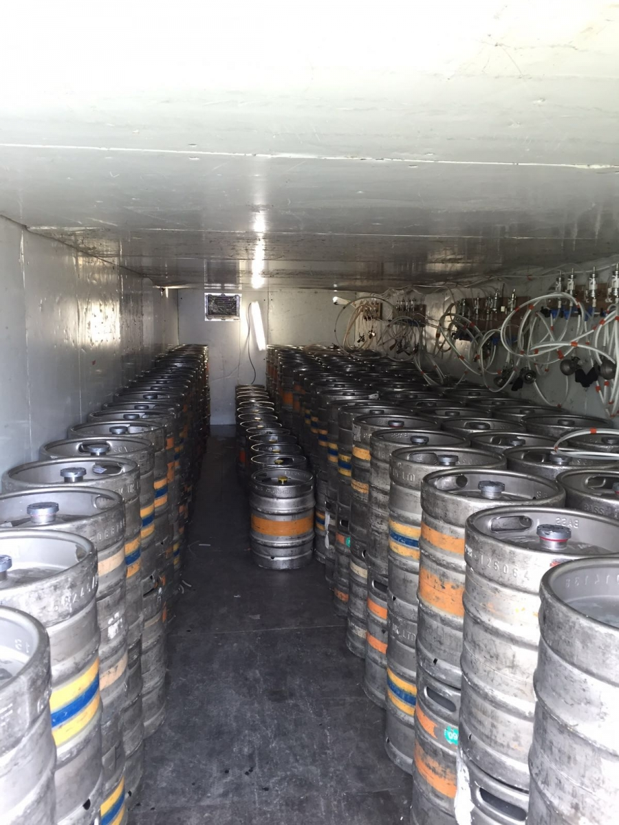 Keg room fully stocked