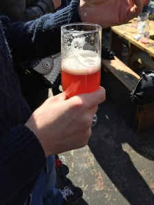 Mixing the IPA and Raspberry soda…interesting!